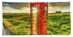 United Kingdom Telephone Bath Towel
