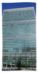 Bath Towel featuring the photograph United Nations 3 by Randall Weidner