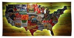 United States Wall Art Bath Towel