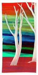 Hand Towel featuring the photograph United Trees by Munir Alawi