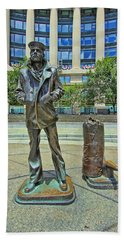 United States Navy Memorial - The Lone Sailor Hand Towel
