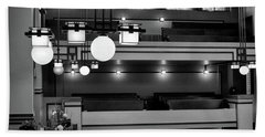 Unity Temple Interior Black And White Hand Towel