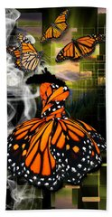 Bath Towel featuring the mixed media Unrestricted by Marvin Blaine