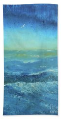 Bath Towel featuring the painting Until The Last Moment by Jane See