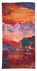 untitled 109 Original Painting Bath Towel