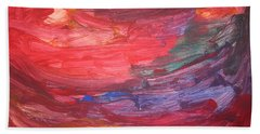 untitled 110 Original Painting Hand Towel