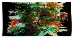 Hand Towel featuring the painting Nature by Tamal Sen Sharma