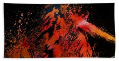 Hand Towel featuring the painting Volcano by Tamal Sen Sharma