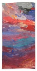 Untitled 96 Original Painting Bath Towel