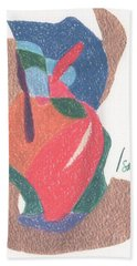 Untitled Abstract Hand Towel by Rod Ismay