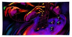 Untitled Guitar Art Bath Towel