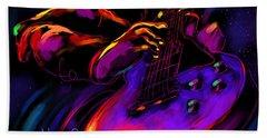 Untitled Guitar Art Bath Towel by DC Langer