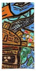 Untitled Olmec And Tehuti Hand Towel