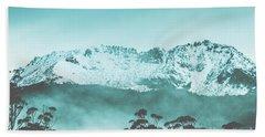 Untouched Winter Peaks Hand Towel