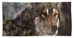 Bath Towel featuring the digital art Unwavering Loyalty by Elaine Ossipov