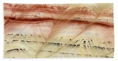 Bath Towel featuring the photograph Up Close Painted Hills by Greg Nyquist