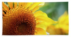 Up Close Sunflower Hand Towel