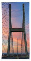Hand Towel featuring the photograph Up On The Bridge by Kathryn Meyer