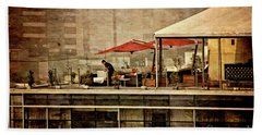 Hand Towel featuring the photograph Up On The Roof - Miraflores Peru by Mary Machare