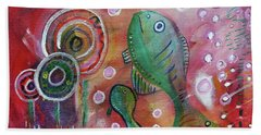 Hand Towel featuring the mixed media Up We Go  by Mimulux patricia no No