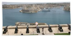 Hand Towel featuring the photograph Upper Barrakka Saluting Battery by Travel Pics