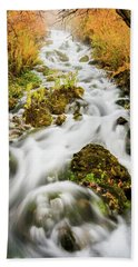Upper Cascades At Cascade Springs Hand Towel