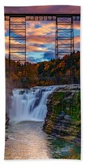 Upper Falls Letchworth State Park Bath Towel