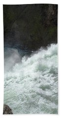 Upper Falls, Yellowstone River Hand Towel