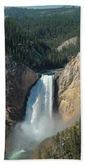 Upper Falls, Yellowstone River Hand Towel