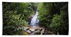 Upper Helton Falls Bath Towel by Sean Allen