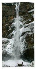 Upper Multnomah Falls Ice Hand Towel