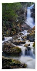 Hand Towel featuring the photograph Upper Race Brook Falls 2017 by Bill Wakeley