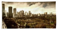 Upper West Side Of New York In Spring Hand Towel