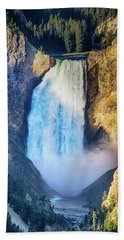 Bath Towel featuring the photograph Upper Yellowstone Falls by James BO Insogna