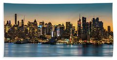 Uptown And Midtown At Sunrise Hand Towel