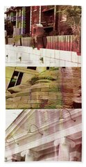 Bath Towel featuring the photograph Uptown Library With Color by Susan Stone