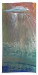 Downpour Bath Towel by Karen Nicholson