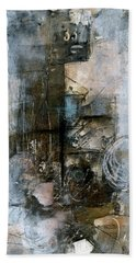 Urban Abstract Cool Tones Hand Towel