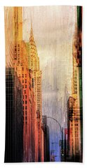 Urban Abstract Bath Towel by John Rivera
