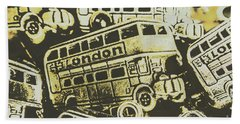 Urban Bus Mural Bath Towel