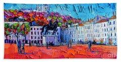 Urban Impression - Bellecour Square In Lyon France Bath Towel