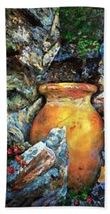 Urn Among The Rocks Hand Towel