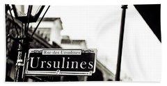 Ursulines In Monotone, New Orleans, Louisiana Hand Towel