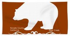 Ursus Americanus - White Text Hand Towel