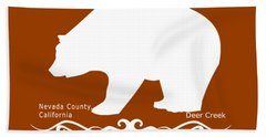 Ursus Americanus - White Text Bath Towel