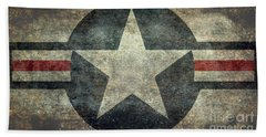Us Air Force Roundel With Star Hand Towel