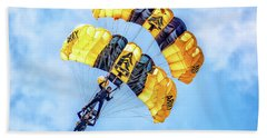 Hand Towel featuring the photograph U.s. Army Golden Knights by Nick Zelinsky