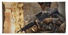 U.s. Army Ranger In Afghanistan Combat Hand Towel