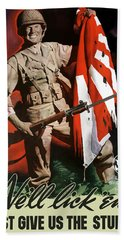 Us Army -- World War Two Propaganda Bath Towel