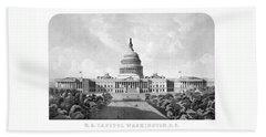 Us Capitol Building - Washington Dc Hand Towel